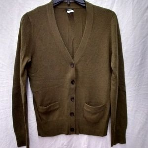 J. Crew wool & cashmere blend cardigan sweater